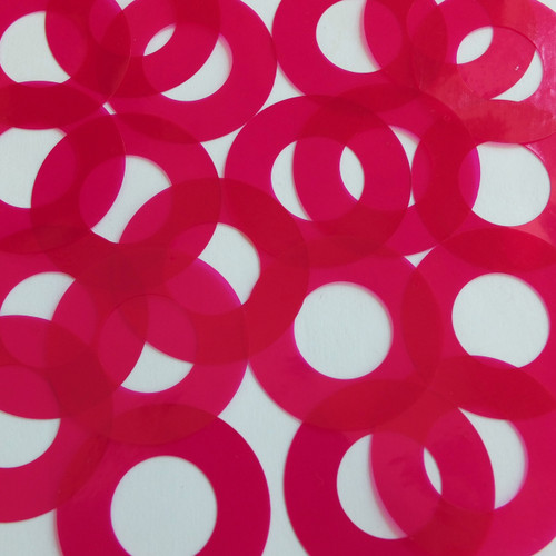 "1.5"" Symetrical Donut Vinyl Go Go Trans Raspberry"