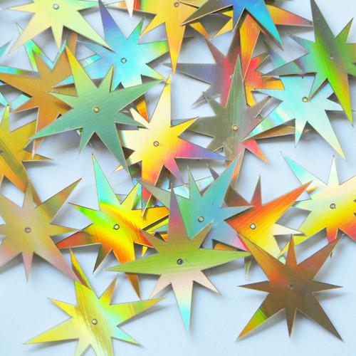 "North Star Sequins 1.5"" Gold Lazersheen Reflective Metallic"
