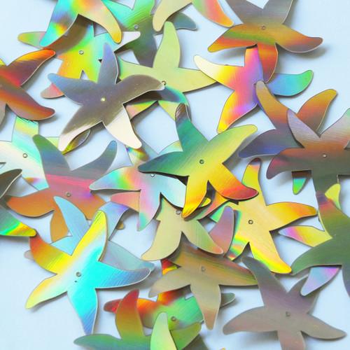 "Starfish Sequins 1.5"" Gold Lazersheen Reflective Metallic"