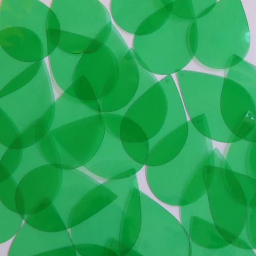 """1"""" x 1.5"""" Shape Drop Vinyl Go Go Trans Green"""