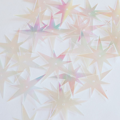 """North Star Sequins 1.5"""" Clear Crystal Iris Luminescent"""