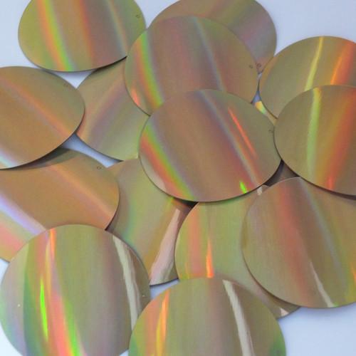 "Round Sequins 2"" Gold Lazersheen Reflective Metallic"