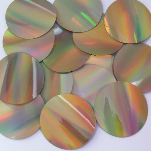 Round Sequins 50mm Gold Lazersheen Reflective Metallic