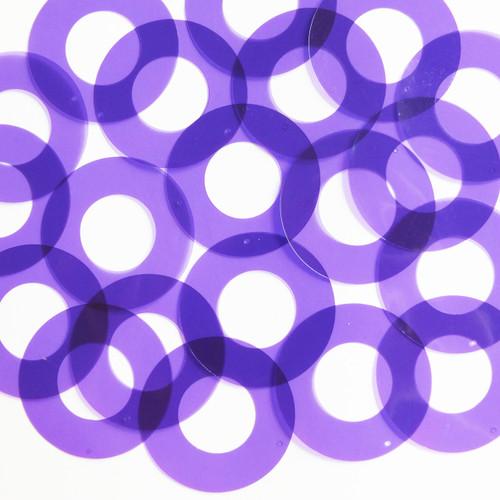 "1.5"" Symetrical Donut Vinyl Go Go Trans Purple"
