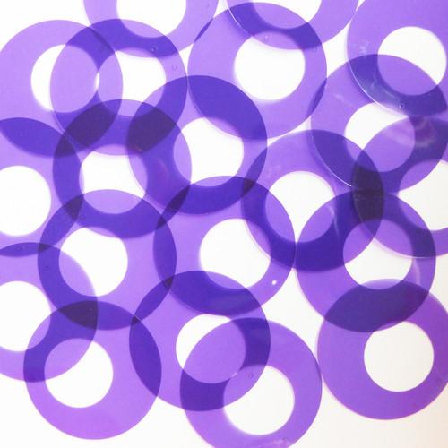 "1.5"" Offcenter Donut Vinyl Go Go Trans Purple"