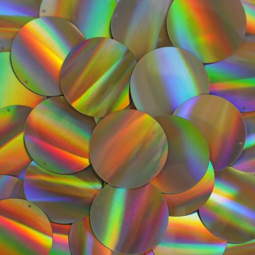 Round Sequins 40mm Gold Lazersheen Reflective Metallic