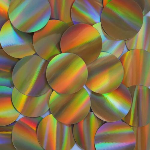 Round Sequins 40mm No hole Gold Lazersheen Reflective Metallic