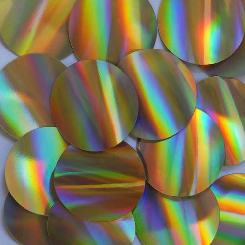 Round Sequins 50mm No hole Gold Lazersheen Reflective Metallic