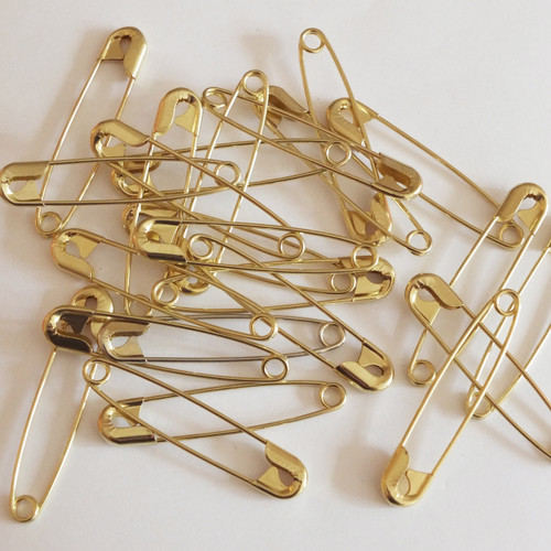 Gold Safety Pin Size 2