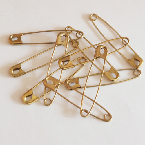 Gold Safety Pins Size 5
