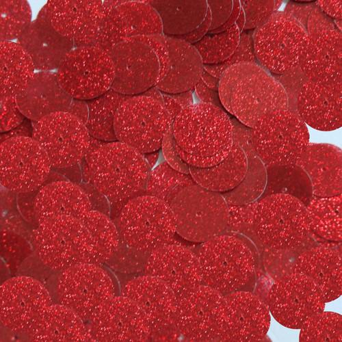 Round sequins 15mm Dark Red Metallic Sparkle Glitter Texture