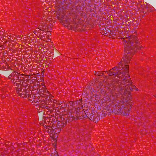 Round sequins 40mm Hot Pink Fluorescent Hologram Glitter Sparkle Metallic