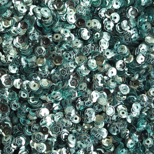 4mm Cup Round Sequins Aqua Blue Shiny Metallic