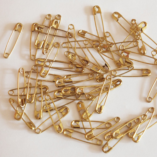 """7/8"""" Gold Safety Pins"""