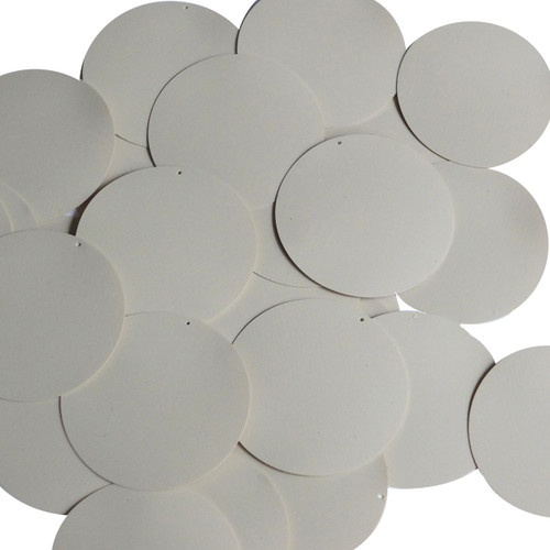 Round Sequin 50mm Beige Tan Opaque Vinyl