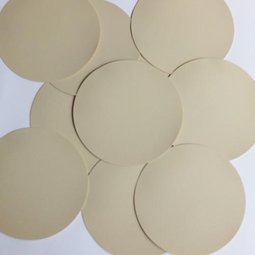 Round Sequin 70mm Beige Tan Opaque Vinyl