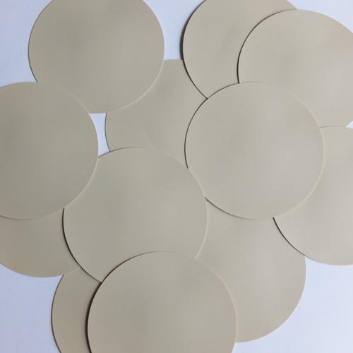 Round Sequin Paillettes 50mm No Hole Beige Tan Opaque Vinyl