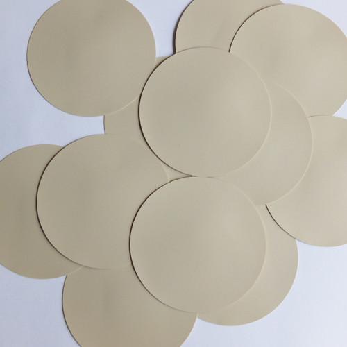 Round Sequin Paillettes 60mm No Hole Beige Tan Opaque Vinyl