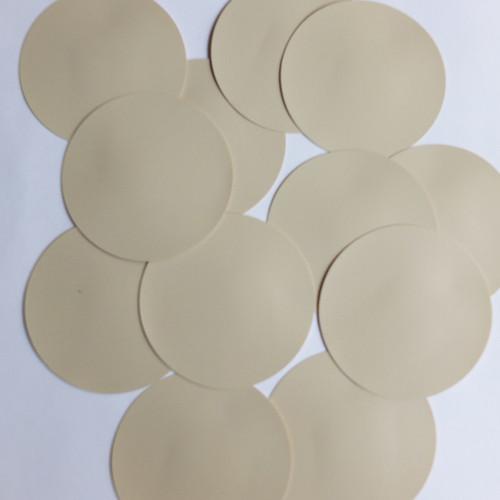 Round Sequin Paillettes 70mm No Hole Beige Tan Opaque Vinyl