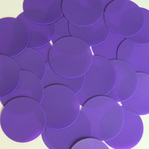 Round Sequin 50mm Purple Opaque Vinyl
