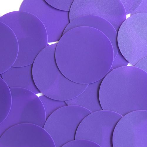 Round Sequin Paillettes 50mm No Hole Purple Opaque Vinyl