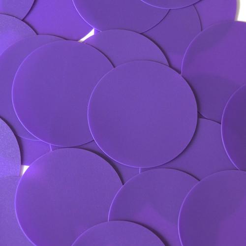 Round Sequin 60mm Purple Opaque Vinyl