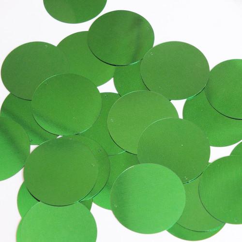 Round Sequin 40mm Green Metallic