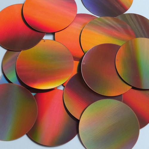 Round Sequin 50mm Copper Lazersheen Reflective Metallic