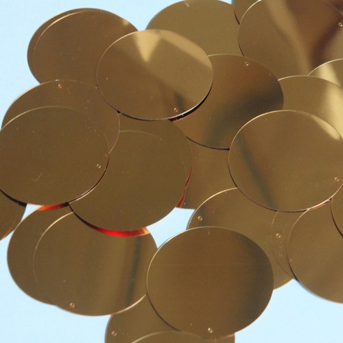 Round Sequin 40mm Deep Gold Metallic