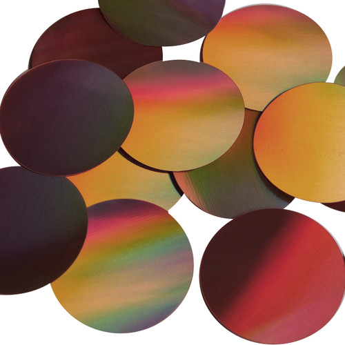 Round Sequin Paillettes 50mm No Hole Copper Lazersheen Reflective Metallic