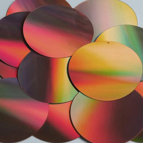 Round Sequin 60mm Copper Lazersheen Reflective Metallic