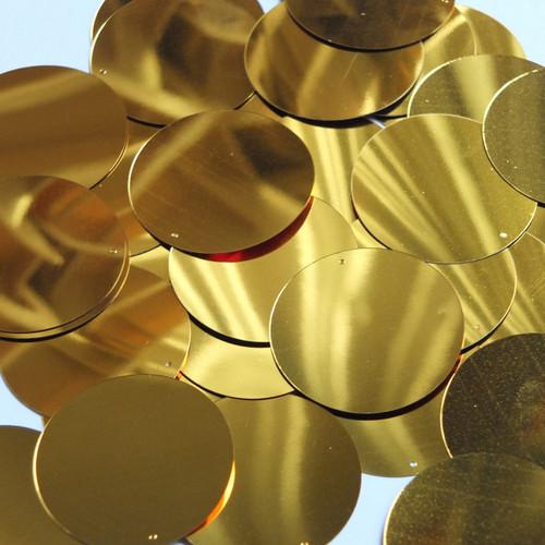 Round Sequin 40mm Brassy Orange Gold Metallic