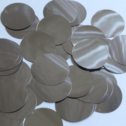 Round Sequin 40mm Hematite Shiny Gray Metallic