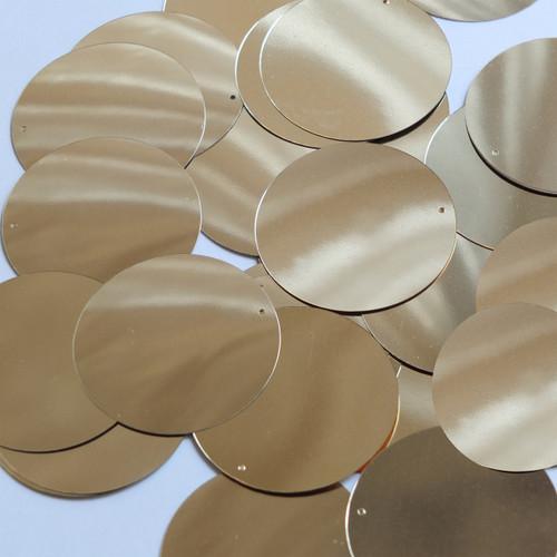 Round Sequin 40mm Light Gold Metallic