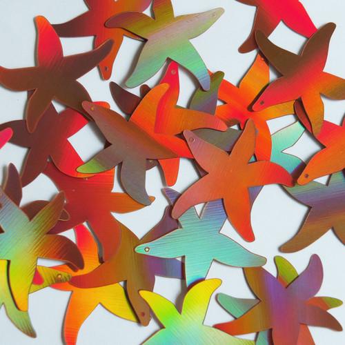 """Starfish Sequin 1.5"""" Copper Lazersheen Reflective Metallic"""