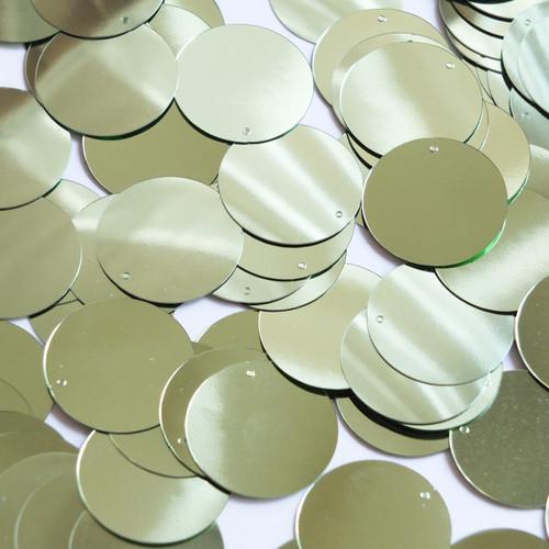 Round Sequin 24mm Pale Green Metallic