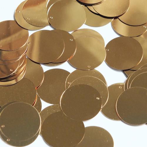 Round Sequin 24mm Very Deep Gold Metallic