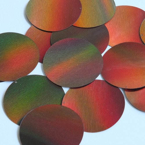 Round Sequin 50mm Bronze Brown Lazersheen Reflective Metallic