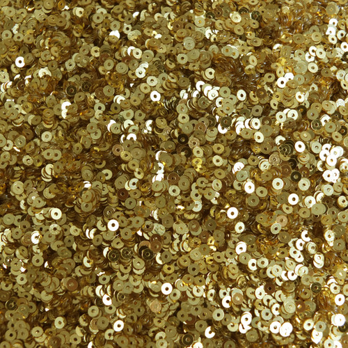 3mm Flat Sequins Rich Egyptian Gold Shiny Metallic