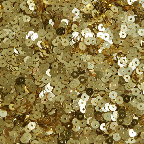 4mm Flat Sequins Rich Egyptian Gold Shiny Metallic