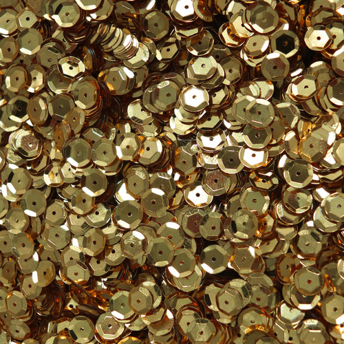 5mm Cup Sequins Rich Egyptian Gold Shiny Metallic