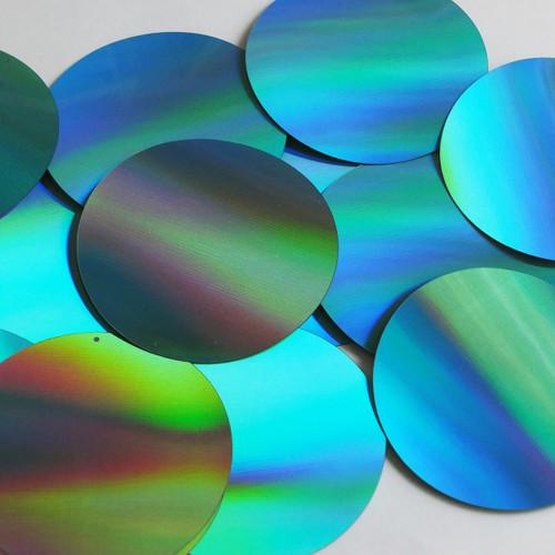 Round Sequin 70mm Aqua Blue Lazersheen Reflective Metallic