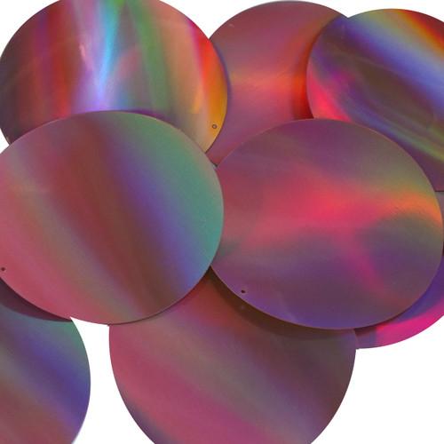 Round Sequin 70mm Pink Lazersheen Reflective Metallic