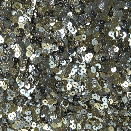 3mm Flat Sequins Silver Light Gold Metallic Two Sided Reversible