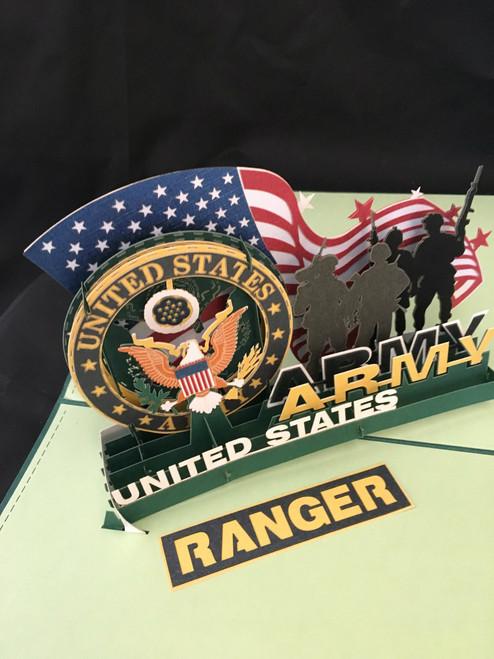 Army Ranger  Handmade 3D Kirigami Card