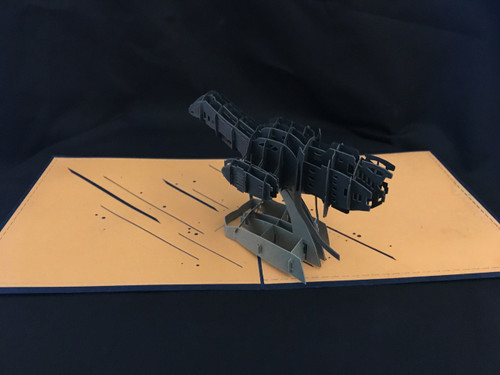 Serenity Firefly Handmade 3D Kirigami Card