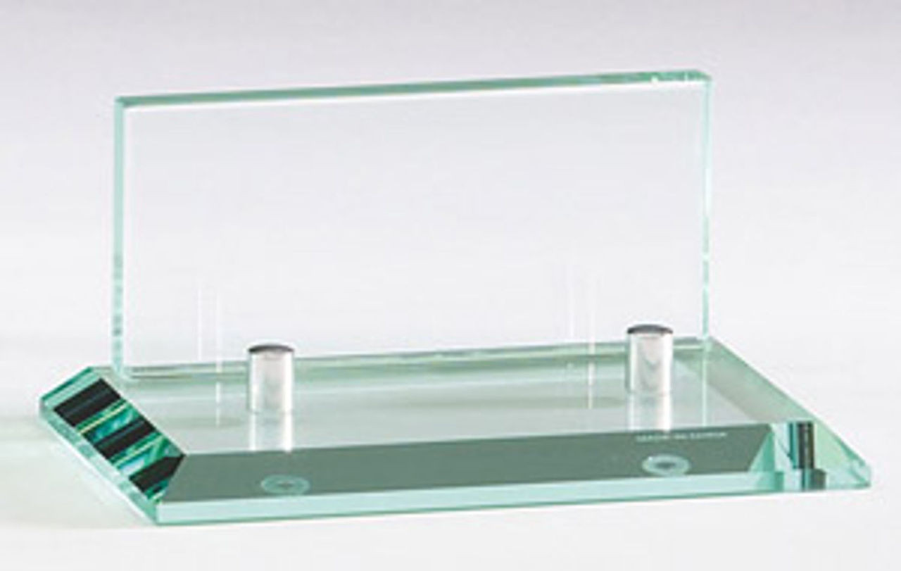 Glass business card holder classic achievements inc glass business card holder colourmoves