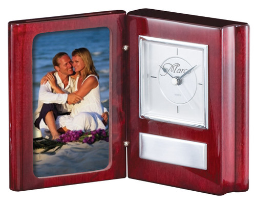 Book Clock with Photo Holder