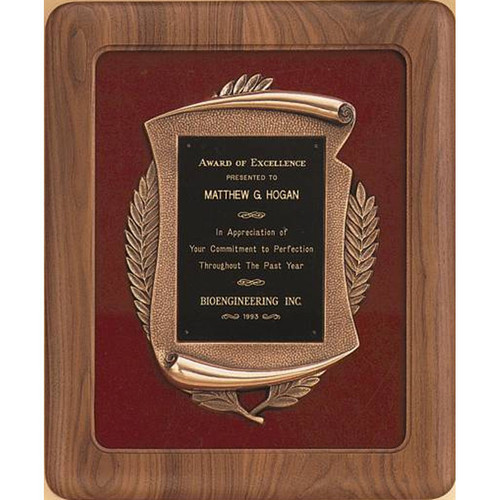Velour Scroll Plaque