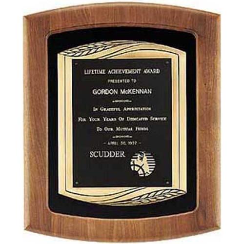 Antique Wheat Bronze Plaque